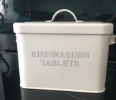Dishwasher tablet box